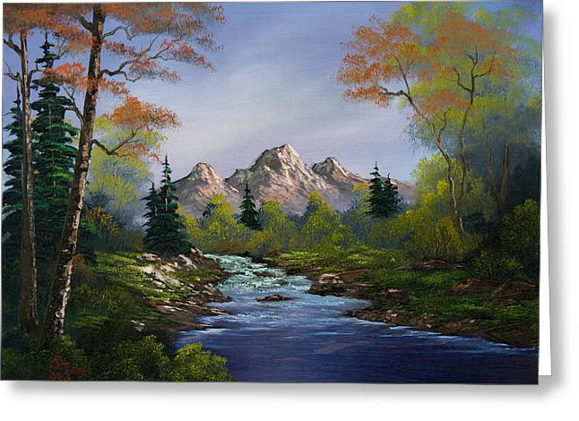 Bob Ross Paintings Greeting Cards - A Touch of Autumn Greeting Card by C Steele