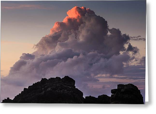 Storm Clouds; Sunset; Twilight; Water Greeting Cards - A Touch Of Orange Greeting Card by Marco Oliveira