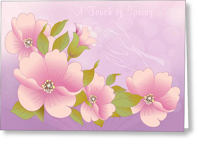 Fractal Spiritual Framed Prints Greeting Cards - A Touch of Spring Greeting Card by Gayle Odsather