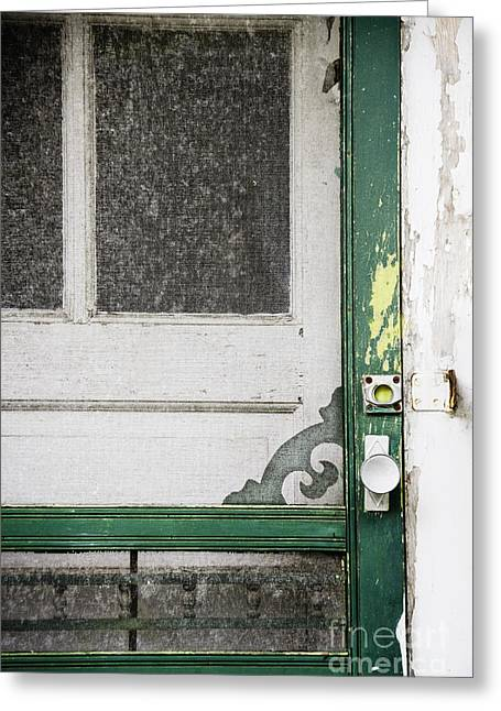 Screen Door Greeting Cards - A Touch of Yellow Greeting Card by Margie Hurwich