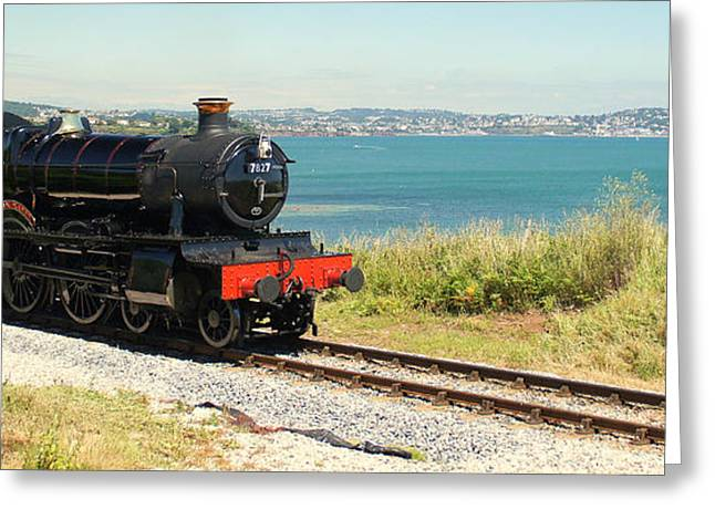 Dart Stations Greeting Cards - A Train Ride By The Sea Greeting Card by Peter Hunt
