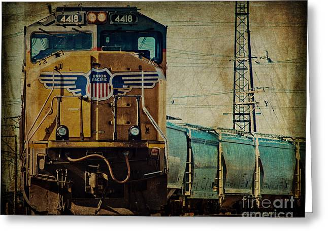 Midwestern Art Greeting Cards - A Train to Chicago Greeting Card by Emily Kay