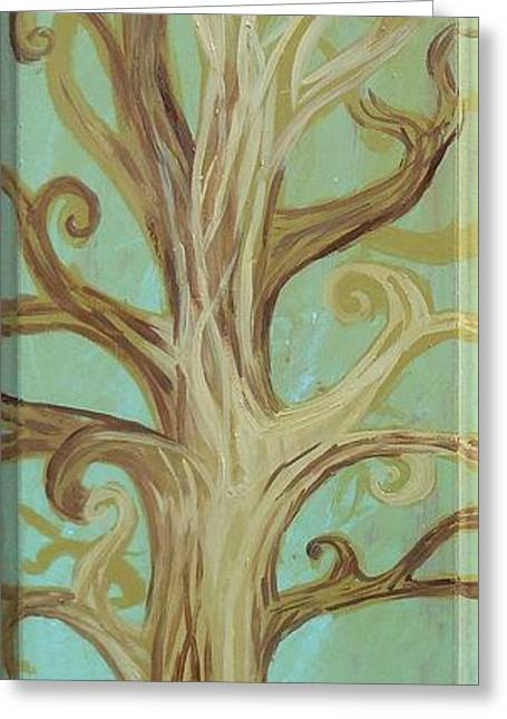 Beige Abstract Greeting Cards - A Tree In Paris Greeting Card by Genevieve Esson