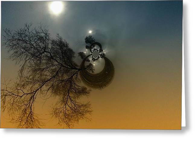 A TREE IN THE SKY Greeting Card by Jeff  Swan