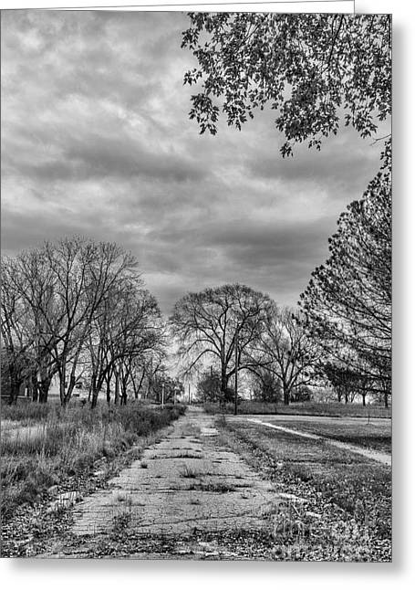 Psychiatric Greeting Cards - A Trip down the Road to Nowhere Greeting Card by Steven Reed