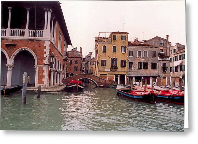 Gondolier Greeting Cards - Venice Series - A Trip to Remember in Watercolor III Greeting Card by Suzanne Gaff