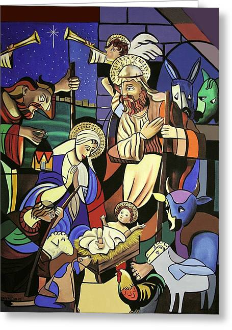 Mother Mary Digital Art Greeting Cards - A True Story Greeting Card by Anthony Falbo