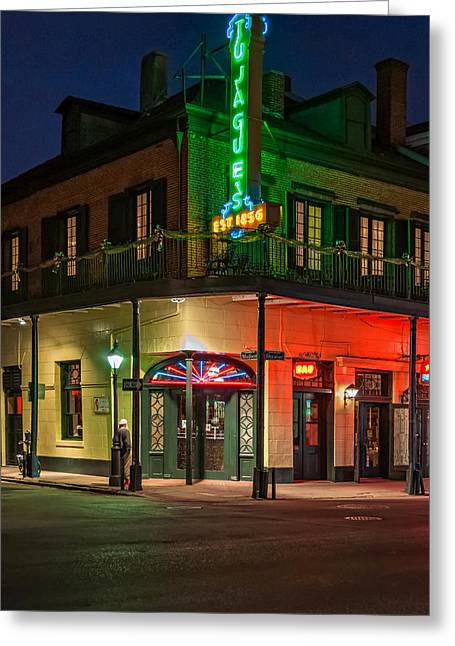 Night Scene Prints Greeting Cards - A Tujagues Night Greeting Card by Steve Harrington