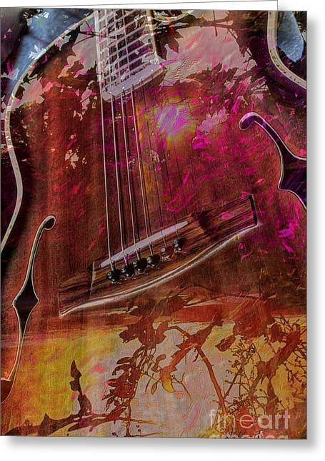 Acoustical Digital Art Greeting Cards - A Tune In The Woods by Steven Langston Greeting Card by Steven Lebron Langston