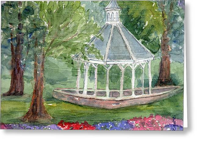 Csu Greeting Cards - A Turn About the Garden Greeting Card by Mary Benke