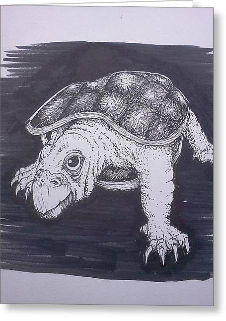 Richie Montgomery Greeting Cards - A Turtle Named Puppy Greeting Card by Richie Montgomery