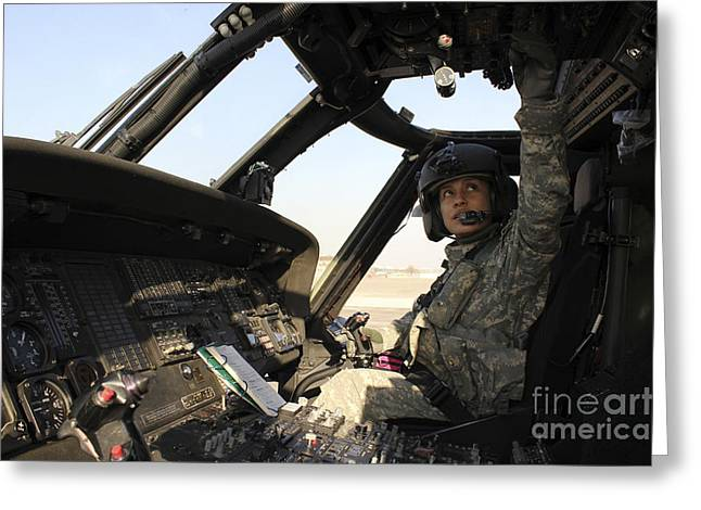 Flight Operations Photographs Greeting Cards - A Uh-60 Black Hawk Helicopter Greeting Card by Stocktrek Images