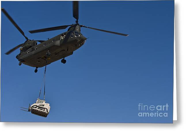 Drop Zone Greeting Cards - A U.s. Army Ch-47 Chinook Carries Greeting Card by Stocktrek Images
