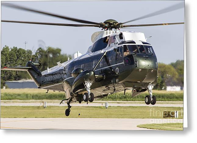 First-class Greeting Cards - A U.s. Marine Corps Vh-3d Transport Greeting Card by Rob Edgcumbe