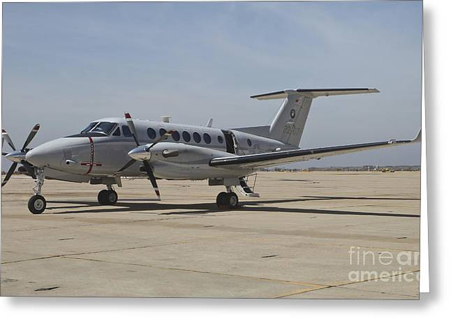 First-class Greeting Cards - A U.s. Navy Uc-12w King Air Utility Greeting Card by Timm Ziegenthaler