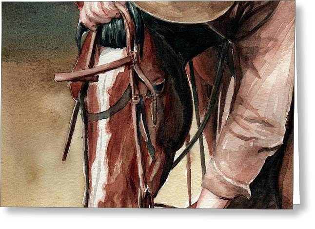 A Useful Horse Greeting Card by Linda L Martin