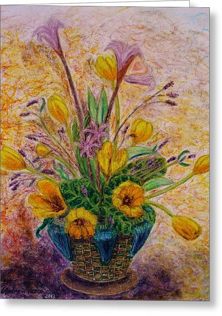 Harts Pastels Greeting Cards - A Valentine Suprise Greeting Card by Andrew Pierce