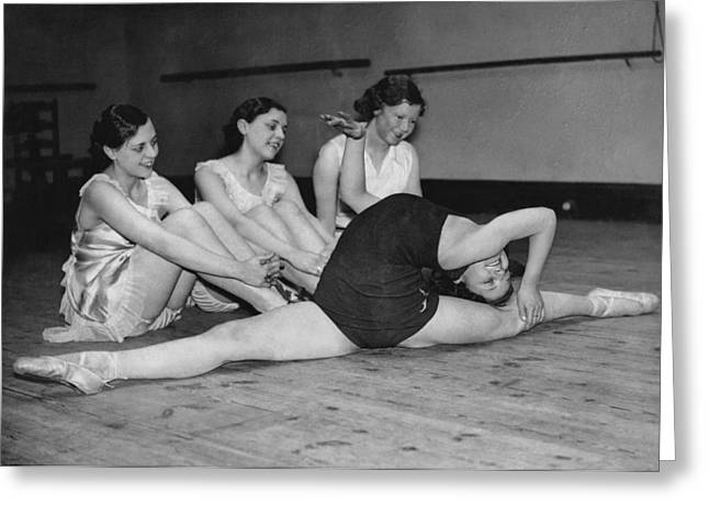 A Very Flexible Woman Greeting Card by Underwood Archives