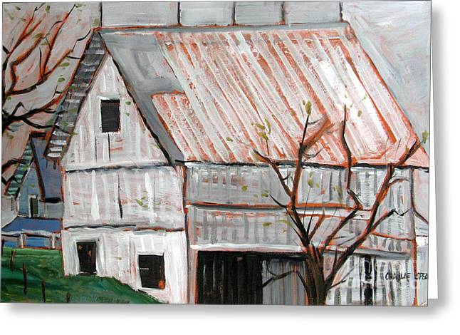 Run Down Paintings Greeting Cards - A Very Gray Day Greeting Card by Charlie Spear
