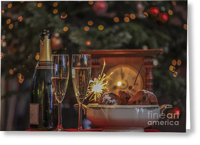 New Year Greeting Cards - A very happy new year Greeting Card by Patricia Hofmeester