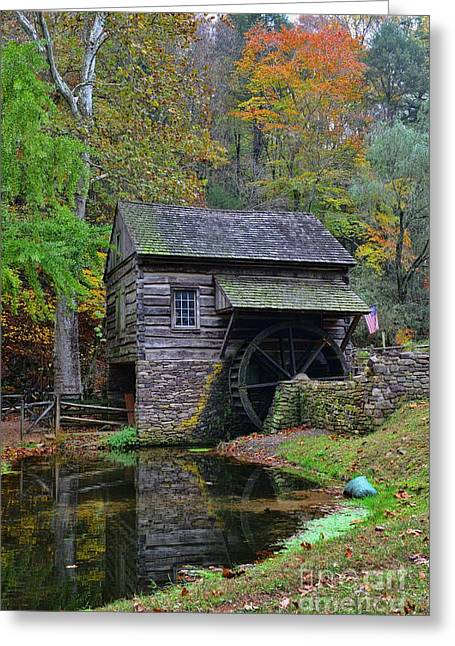 A Very Old Grist Mill Greeting Card by Paul Ward