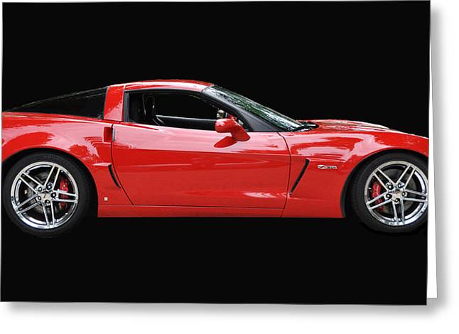 A Very Red Corvette Z6 Greeting Card by Allen Beatty