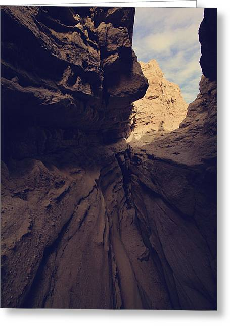 State Park Canyon Greeting Cards - A Very Tight Squeeze Greeting Card by Laurie Search