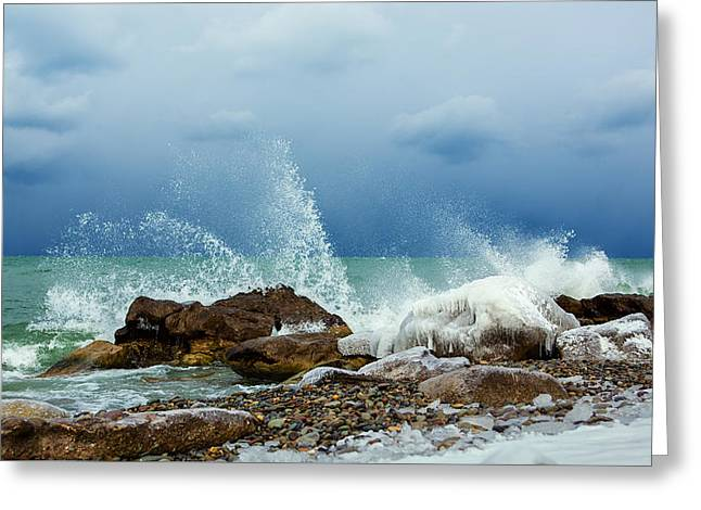 Lake Ontario Greeting Cards - A Vibrant Sea Greeting Card by Everet Regal
