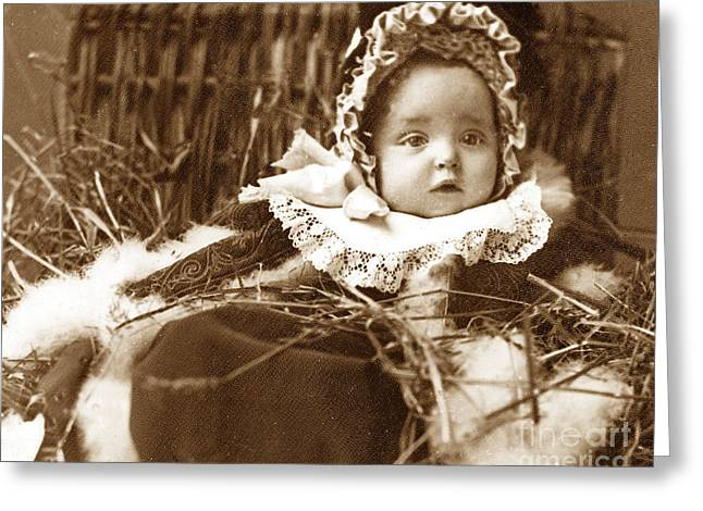 Hamper Greeting Cards - A Victorian Christmas Hamper England Greeting Card by The Keasbury-Gordon Photograph Archive