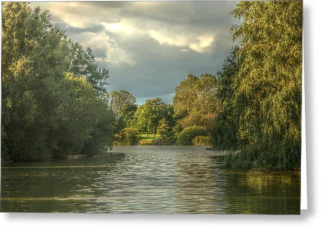 Northamptonshire Greeting Cards - A View Down the Lake Greeting Card by Jeremy Hayden