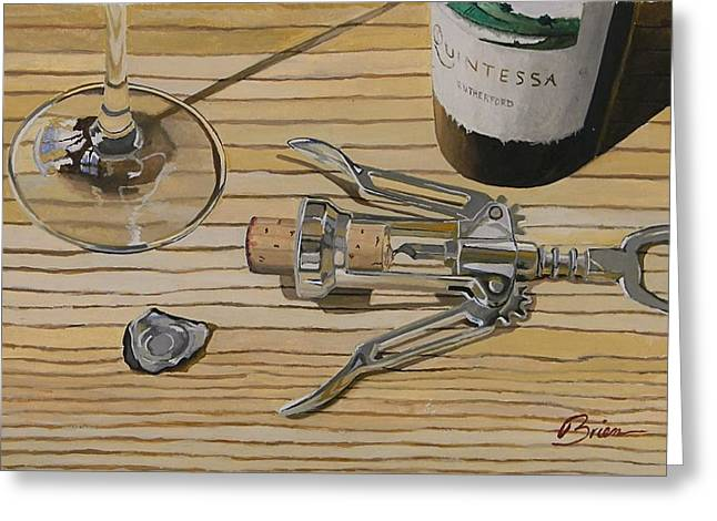 Virginia Wine Art Greeting Cards - A View From Above Greeting Card by Brien Cole