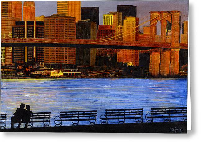 A View From Brookklyn Greeting Card by Stuart B Yaeger