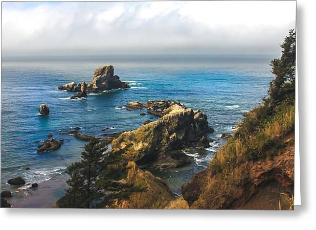 A View From Ecola State Park Greeting Card by Robert Bales