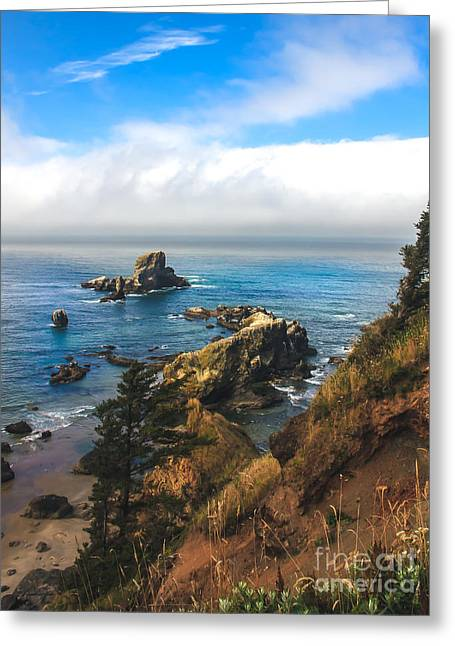 Seacape Greeting Cards - A View From Ecola State Park Greeting Card by Robert Bales