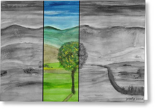 Cocain Greeting Cards - A View From My Terrace Austria 2012 Greeting Card by Sir Josef  Putsche