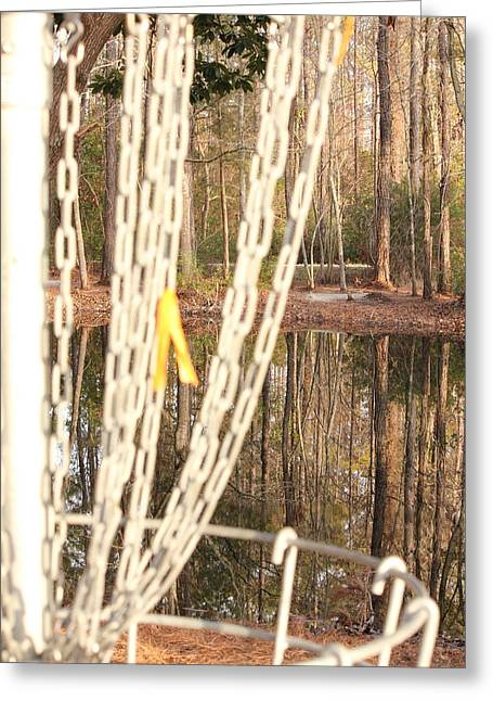 Hazard County Greeting Cards - A View From the Chains Greeting Card by Jennifer Westlake