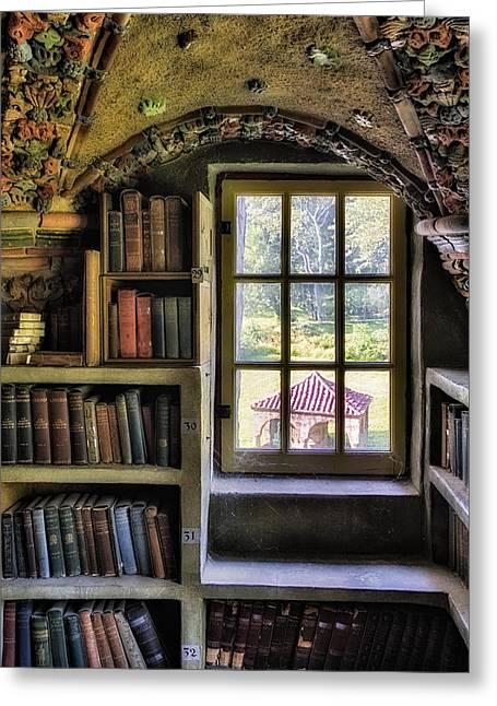 Old Fashioned Greeting Cards - A View From The Study Greeting Card by Susan Candelario