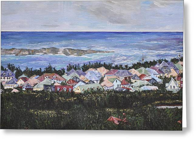 A View Of Orient Bay Greeting Card by Dottie Branchreeves
