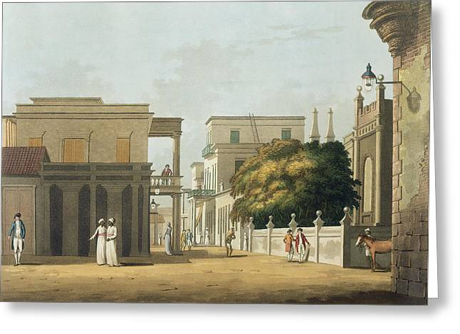 Colonial Architecture Greeting Cards - A View Of Part Of St. Thome Street Greeting Card by Colonel Francis Swain Ward