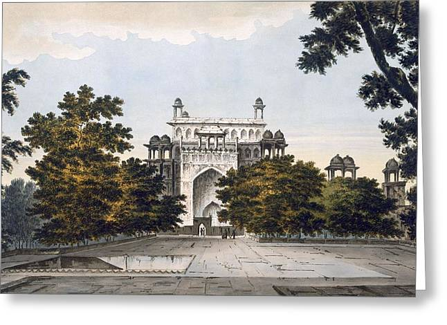 View Drawings Greeting Cards - A View Of Part Of The Tomb Greeting Card by William Hodges