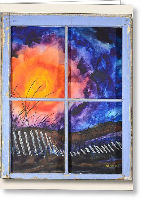 Sand Fences Mixed Media Greeting Cards - A View of the Beach Greeting Card by Peter Freischlag