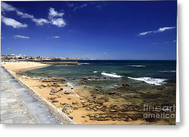 Ocean Art Photos Greeting Cards - A View of the Estoril Coast Greeting Card by John Rizzuto