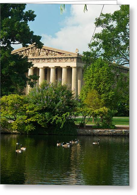 Willow Lake Greeting Cards - A View of the Parthenon 17 Greeting Card by Douglas Barnett