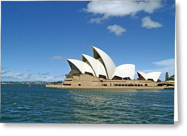 Performing Arts Greeting Cards - A View of the Sydney Opera House Greeting Card by Anonymous