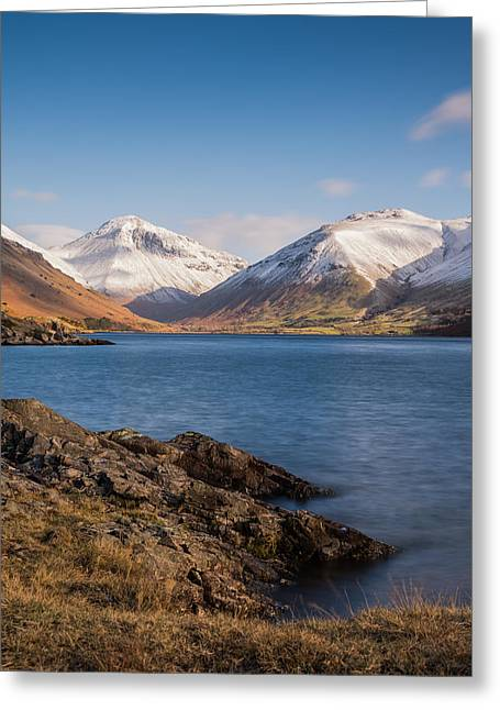 Walking Greeting Cards - A View Of Wast Water Lake. Greeting Card by Daniel Kay