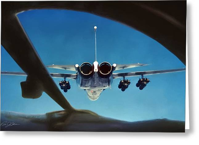 Interceptor Greeting Cards - A View To A Kill Greeting Card by Peter Chilelli