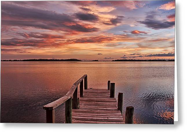 A Summer Evening Greeting Cards - A View To The Bay Greeting Card by HH Photography