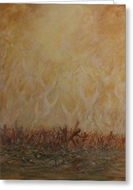 Ezekiel Greeting Cards - A Vision Greeting Card by Robert Wright
