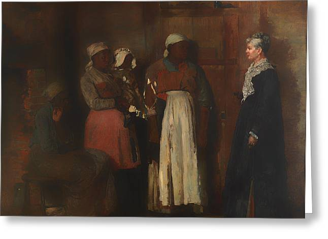 Slaves Greeting Cards - A Visit from the Old Mistress Greeting Card by Winslow Homer