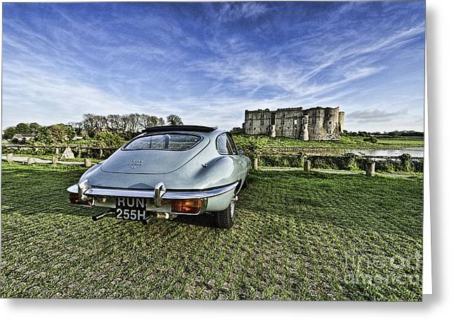 Jaguars Greeting Cards - A Vroom With A View 2 Greeting Card by Steve Purnell